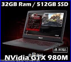 ASUS G751JY 17,3 FHD GAMER i7-4720HQ 512GB SSD 32GB Ram NVidia GTX 980M