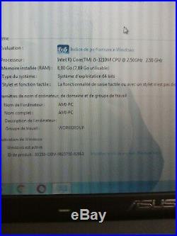 ASUS K55VM 15.6 i5-3210M 8GB RAM SSD 480GO GEFORCE GT 630M 2GO WIN7