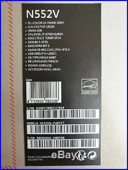 À négocier Asus N552VW FW071T Intel i7 16Go 1To GTX 960m