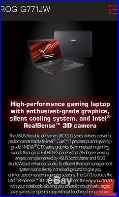 Asus G771J ROG Extreme Gamers Laptop I7 Nvidia GeForce 960m 4gb 1.5Tb Ssd 16GB