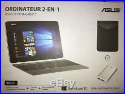 Asus PC portable 2-en-1 Tactile 10.1 T101HA-GR029T +pochette + batterie ext