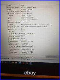 Asus Tuf Gaming FX505DD 15.6 Ryzen 5-3750H 16Go ram SSD 456go