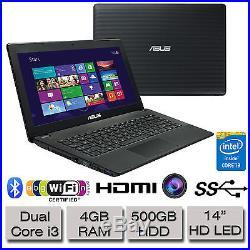 New ASUS X451CA 14 HD LED Laptop Intel Dual Core i3 4GB RAM 500GB Hard Drive