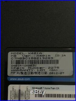 Ordinateur PC Portable ASUS X401A W10