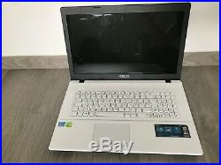 Ordinateur portable ASUS x75v blanc, 17 pouces, intel i3,1TB HDD, 4GB RAM, WIN10