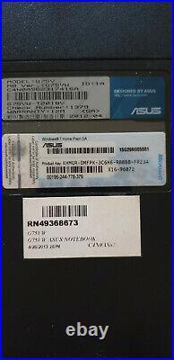 PC PORTABLE ASUS ROG G75VW I7 3610QM GTX660M 17pouces LCD