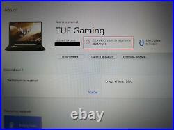 PC portable Asus TUF Gaming 16Go ram RTX 2060, comme neuf et sous garantie