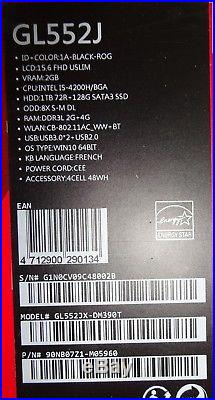 PORTABLE ASUS GL552J Core i5 16GB 15.6