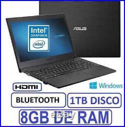 PORTATIL ASUS 15 INTEL 8GB RAM 1 TB grafica 1756mb WINDOWS