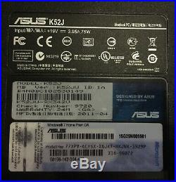 Pc Ordinateur Portable Asus K52ju Super Etat + Accessoires + Logiciels